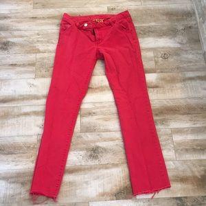 Red Tory Burch Super Skinny Jeans-28